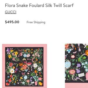 Gucci silk flora snake scarf
